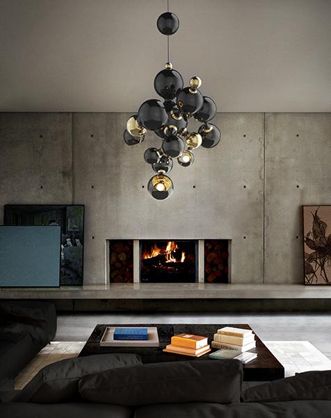 Una lámpara de diseño atómico muy especial