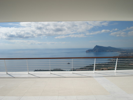 Detalle de la terraza y orientación. L'AGABE Interiorismo.