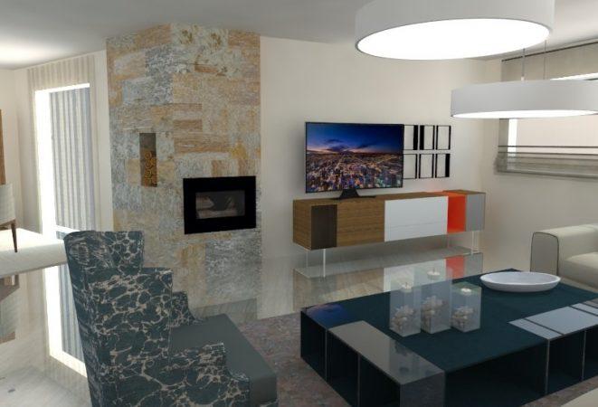 Salón contemporáneo, zona de relax, conversación, y más.