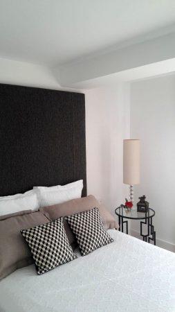 cama y cabezal tapizado vivienda